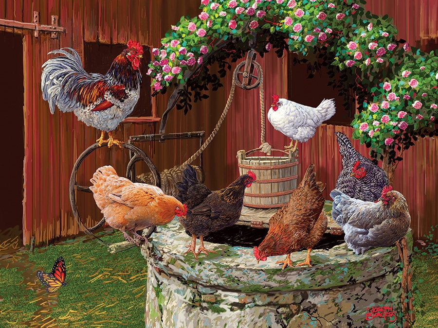 Cobble Hill Easy Handling Puzzle - 275pcs - The Chickens Are Well