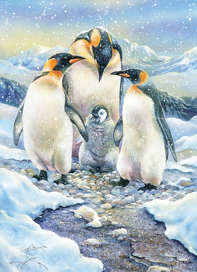 Cobble Hill Family Puzzle - 350pcs - Penguin Family