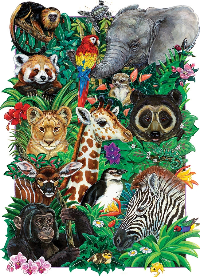 Cobble Hill Family Puzzle - 350pcs - Safari Babies