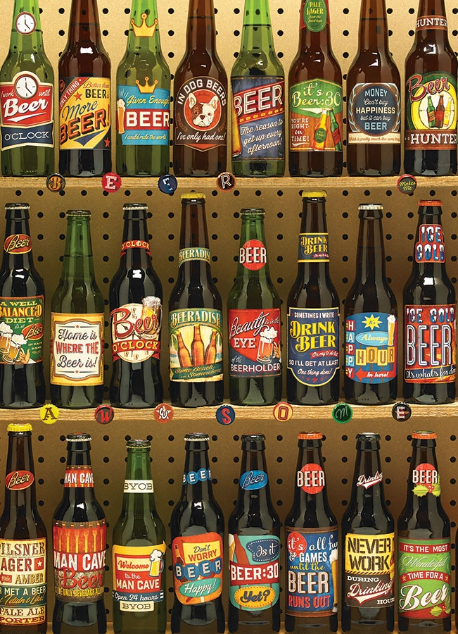 Cobble Hill Jigsaw Puzzle - 1000pcs - Beer Collection