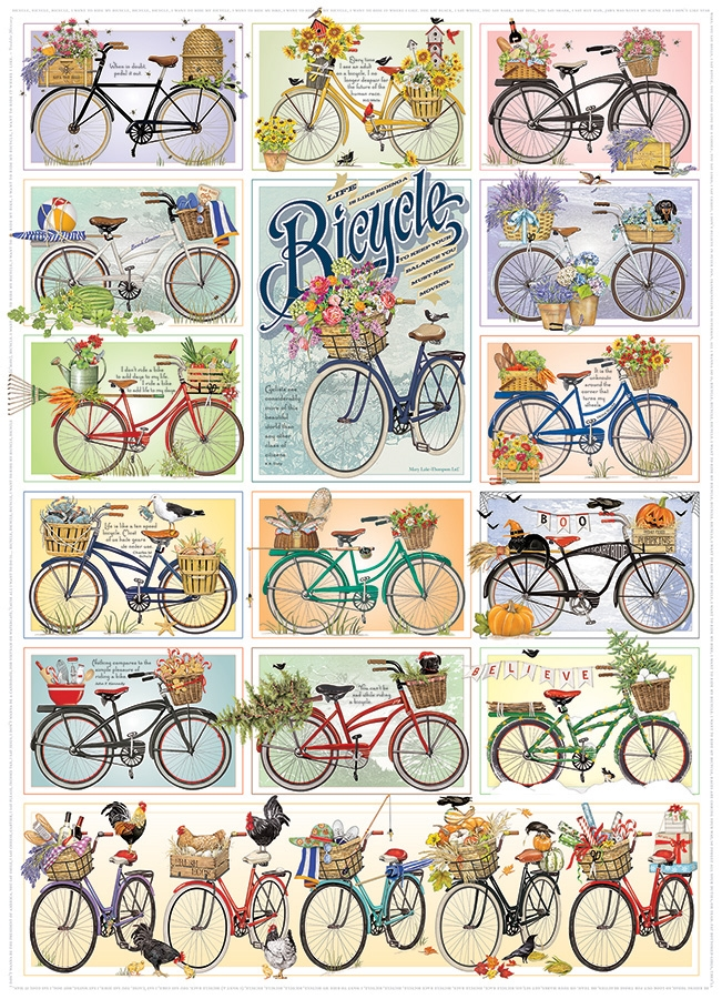 Cobble Hill Jigsaw Puzzle - 1000pcs - Bicycles