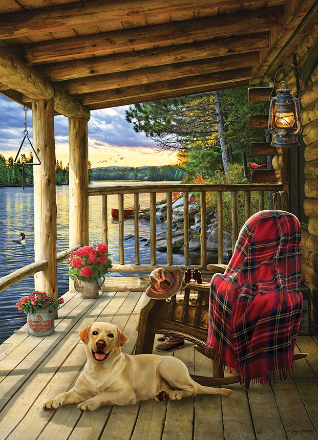 Cobble Hill Jigsaw Puzzle - 1000pcs - Cabin Porch