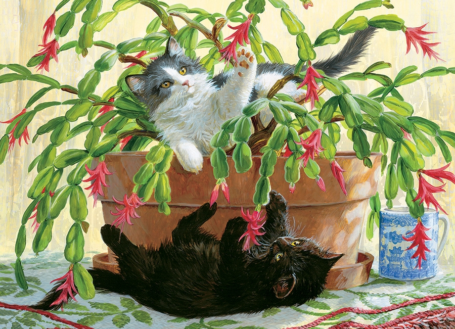 Cobble Hill Jigsaw Puzzle - 1000pcs - Cactus Kitties