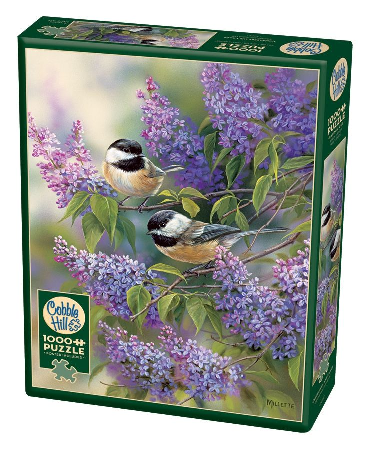 Cobble Hill Jigsaw Puzzle - 1000pcs - Chickadees & Lilacs