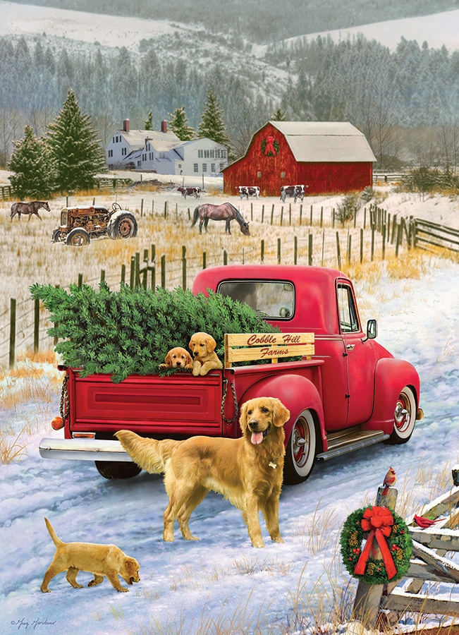 Cobble Hill Jigsaw Puzzle - 1000pcs - Christmas On The Farm
