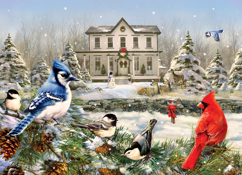 Cobble Hill Jigsaw Puzzle - 1000pcs - Country House Birds