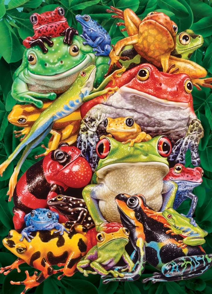 Cobble Hill Jigsaw Puzzle - 1000pcs - Frog Business