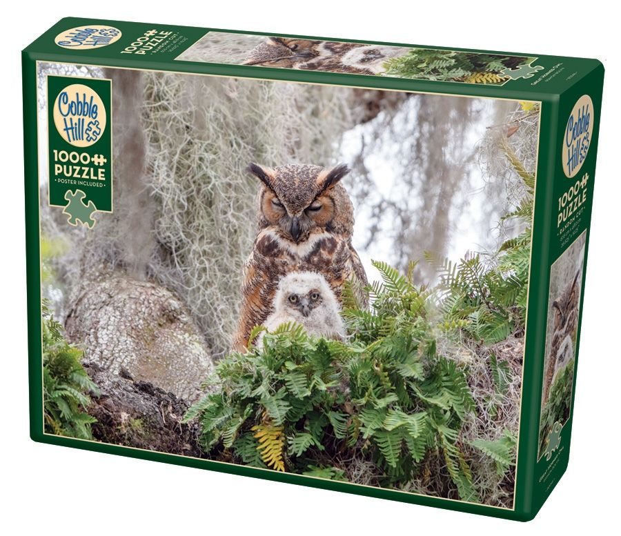 Cobble Hill Jigsaw Puzzle - 1000pcs - Great Horned Owl
