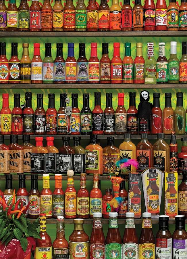 Cobble Hill Jigsaw Puzzle - 1000pcs - Hot Hot Sauce