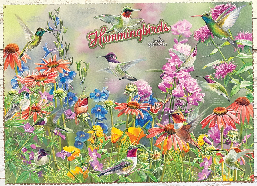 Cobble Hill Jigsaw Puzzle - 1000pcs - Hummingbirds