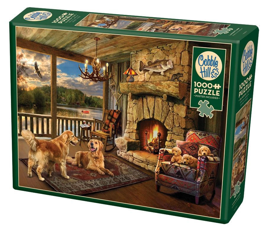 Cobble Hill Jigsaw Puzzle - 1000pcs - Lakeside Cabin