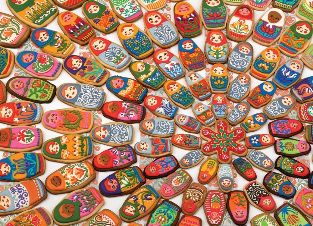 Cobble Hill Jigsaw Puzzle - 1000pcs - Matryoshka Cookies