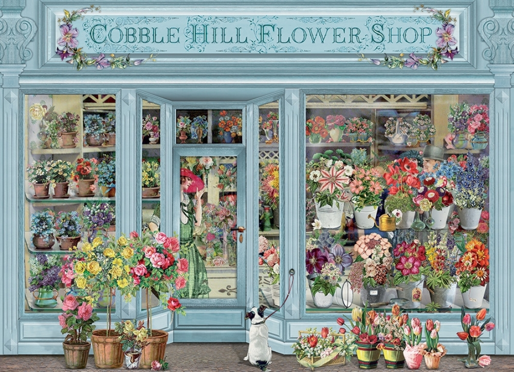 Cobble Hill Jigsaw Puzzle - 1000pcs - Parisian Flowers