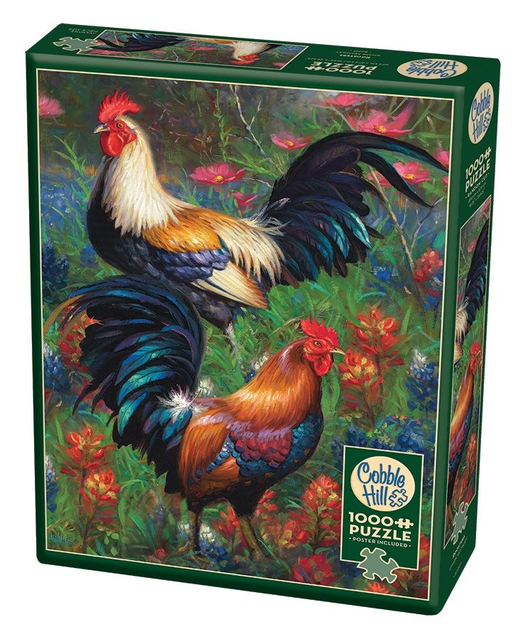 Cobble Hill Jigsaw Puzzle - 1000pcs - Roosters