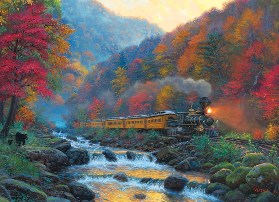 Cobble Hill Jigsaw Puzzle - 1000pcs - Smokey Train