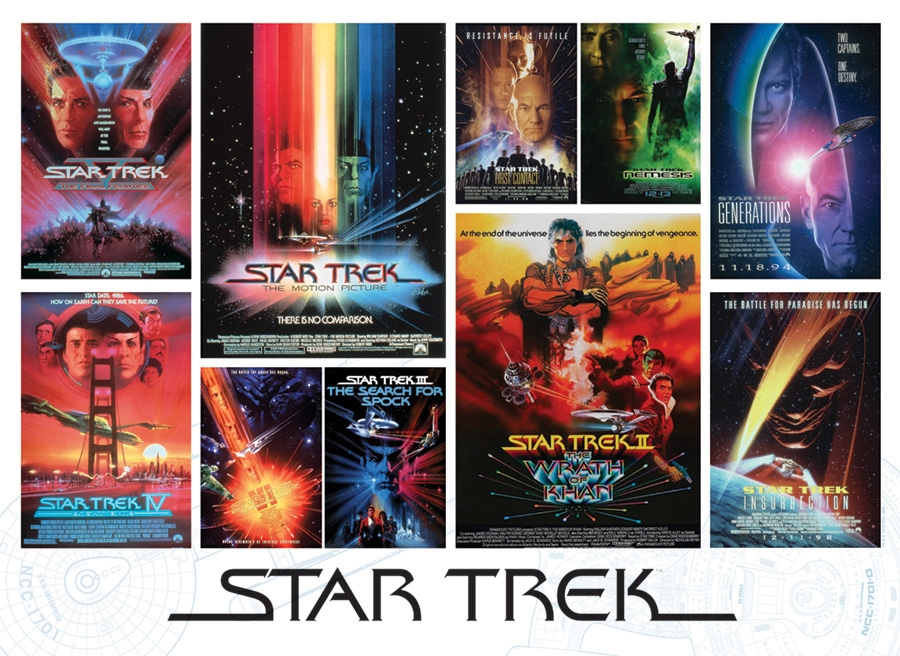Cobble Hill Jigsaw Puzzle - 1000pcs - Star Trek® Films
