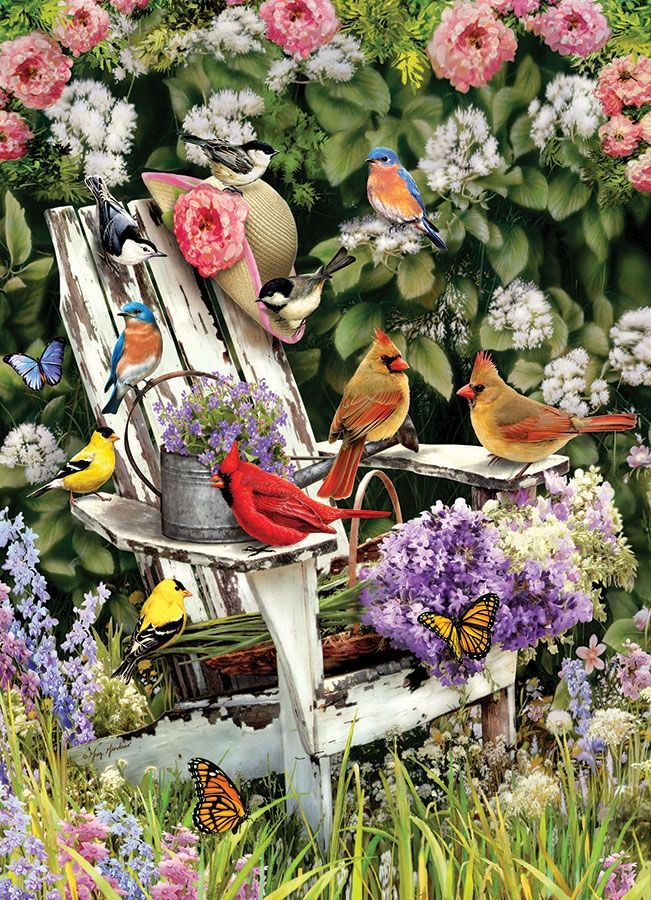 Cobble Hill Jigsaw Puzzle - 1000pcs - Summer Adirondack Birds