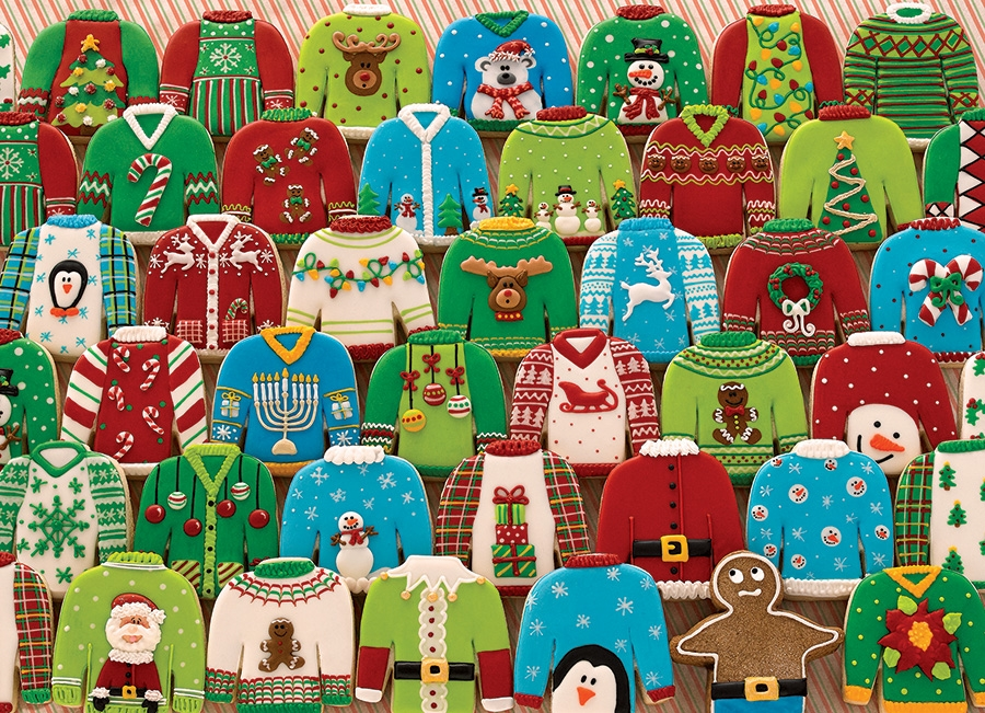 Cobble Hill Jigsaw Puzzle - 1000pcs - Ugly Sweaters