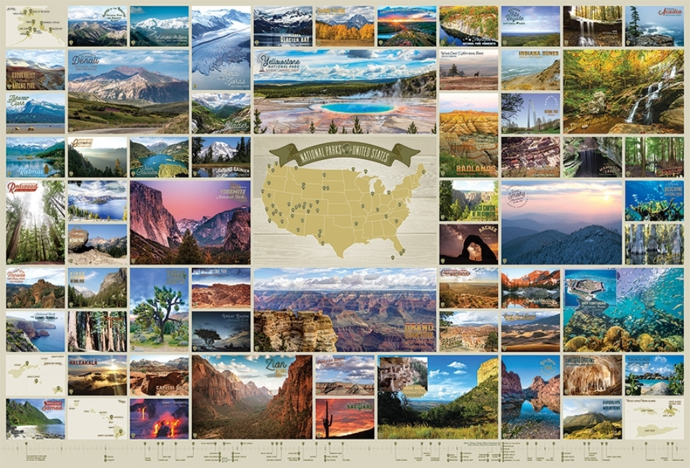 Cobble Hill Jigsaw Puzzle - 2000pcs - National Parks of the United States