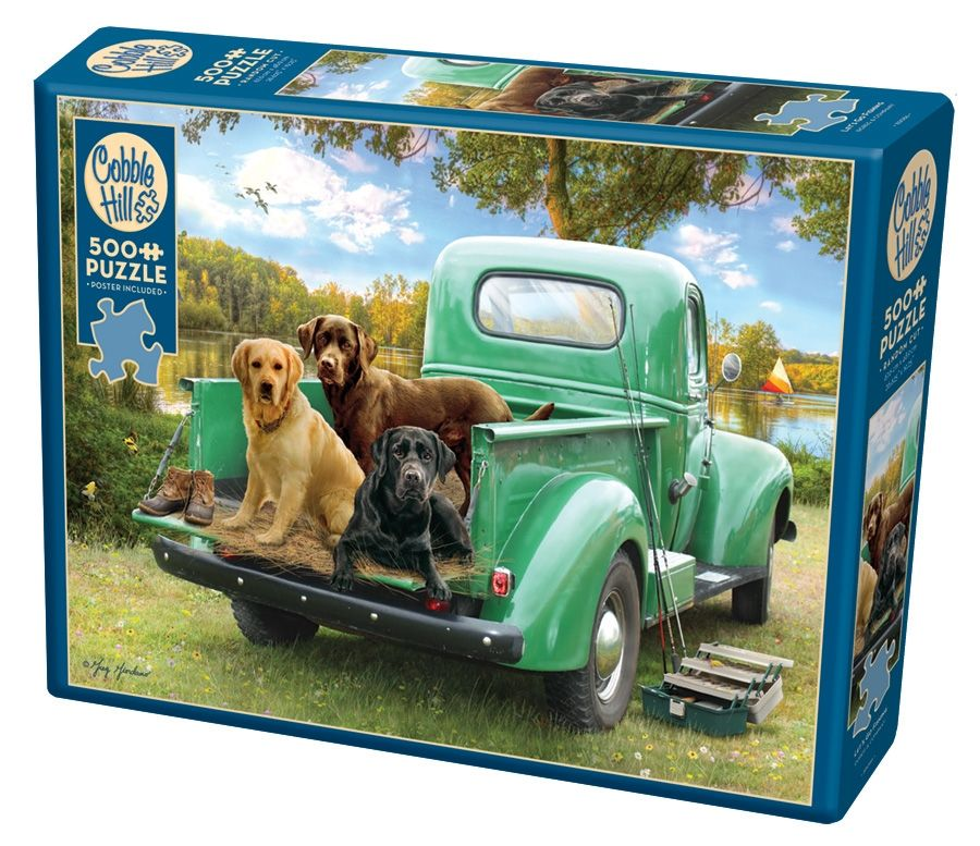Cobble Hill Jigsaw Puzzle - 500pcs - Let's Go Fishing