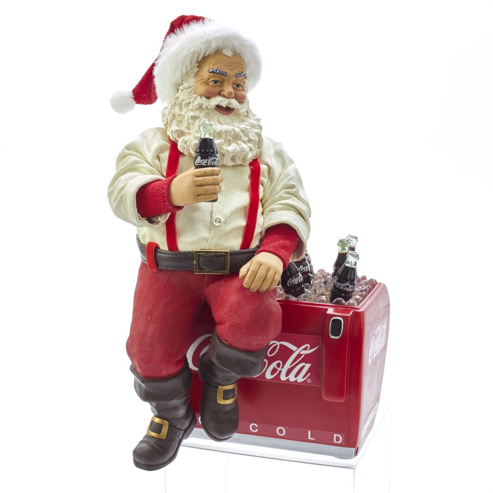 Collectible Santa Figure - Coca-Cola® Cooler - 10.5in