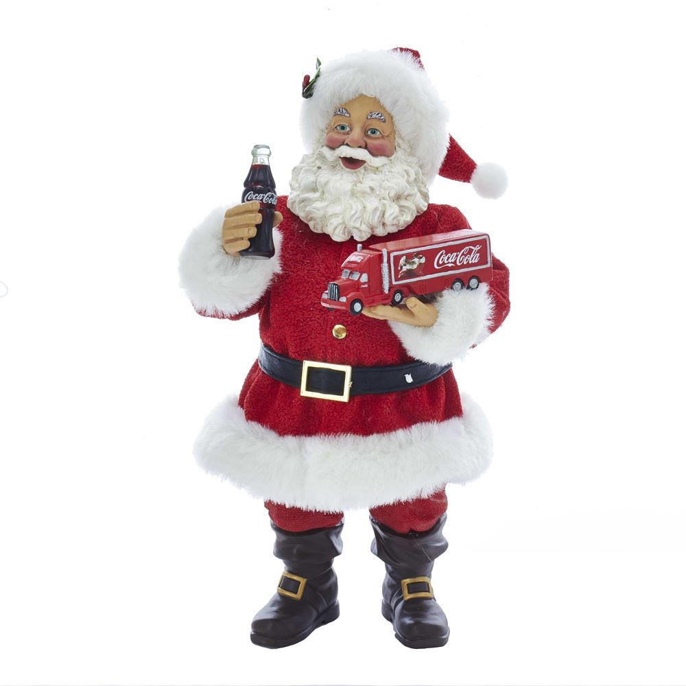 Collectible Santa Figure - Coca-Cola® Truck - 10in