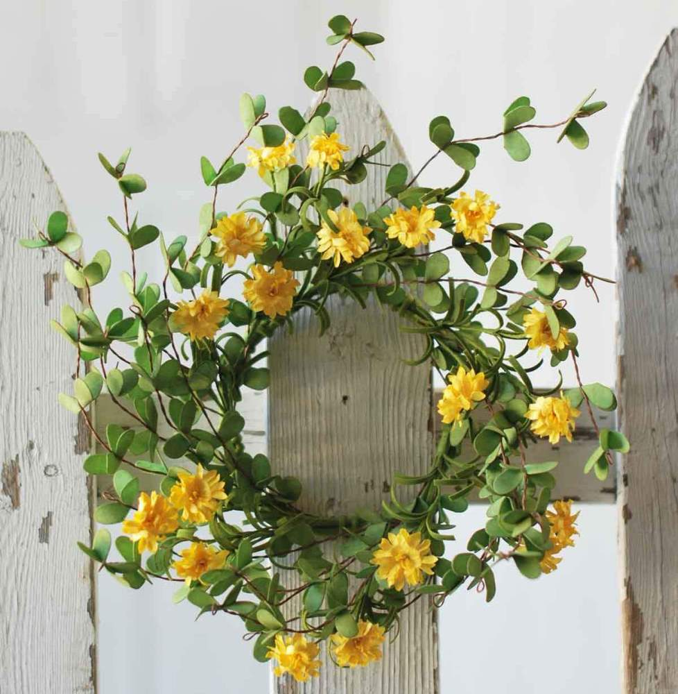 Day Daisy Candle Ring - Yellow - 4.5in