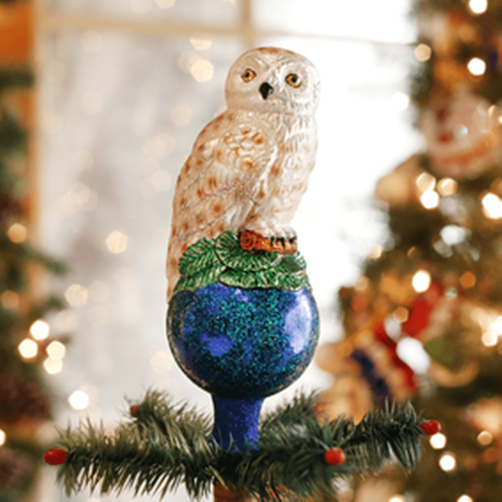 Old World Christmas Tree Topper - Owl