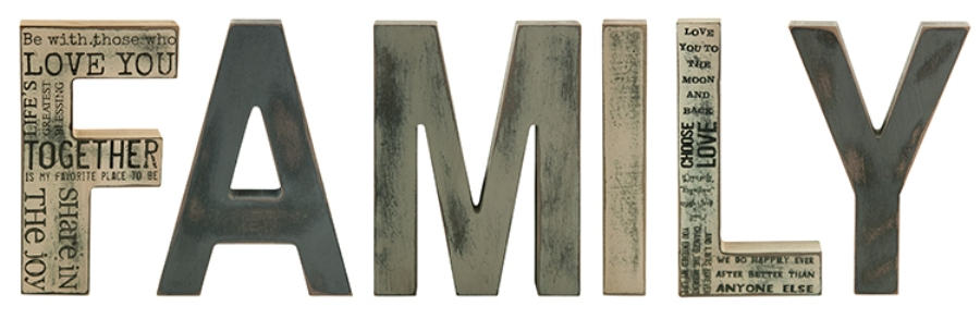 Decorative Block Letters - Family - 8in