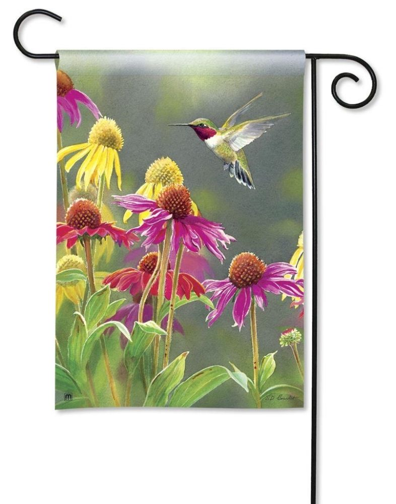 BreezeArt Small Garden Flag - Hummingbird Heaven - 12.5in x 18in