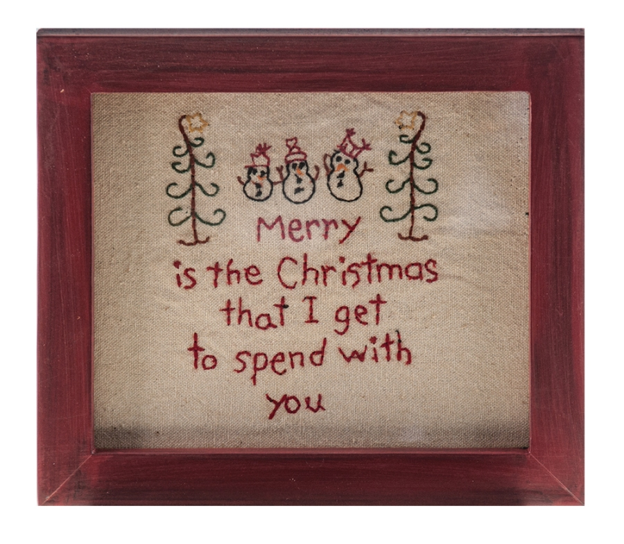 Stitch Wall Hanging - Merry Christmas - 8.5in x 6.75in