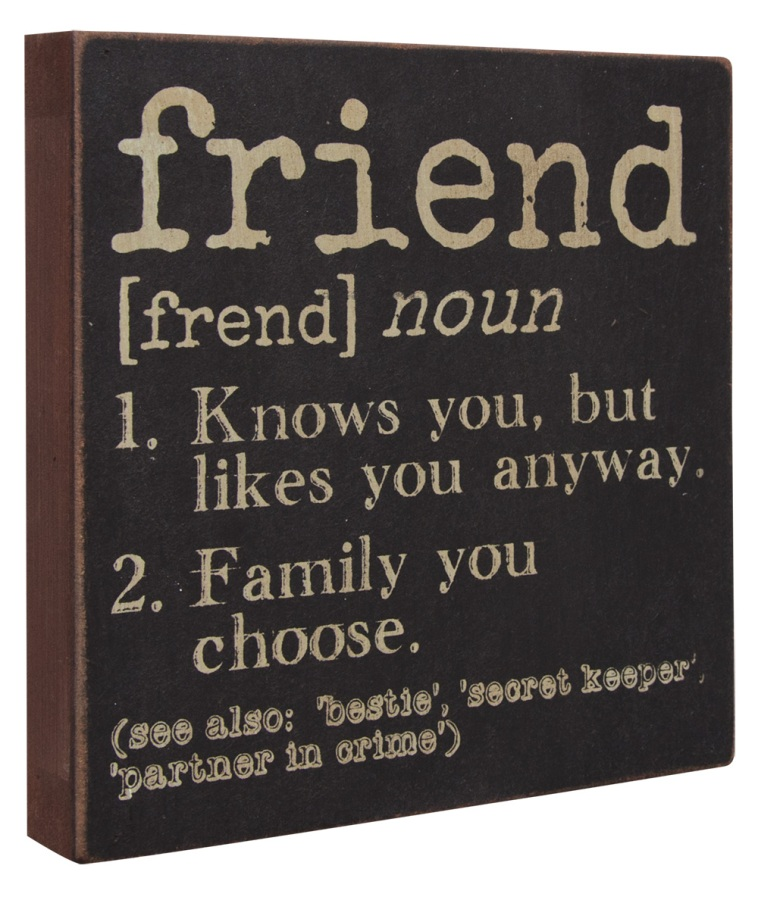 Decorative Box Sign - Friend - 6in
