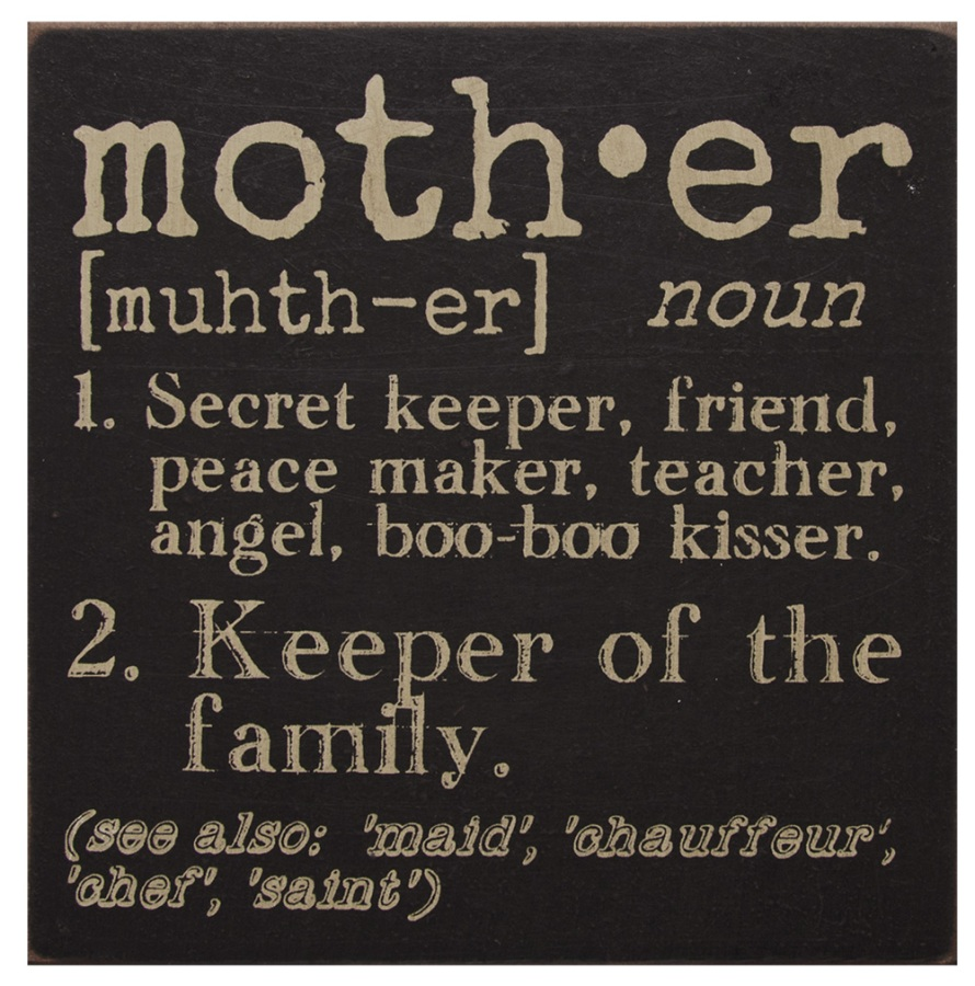 Decorative Box Sign - Mother - 6in