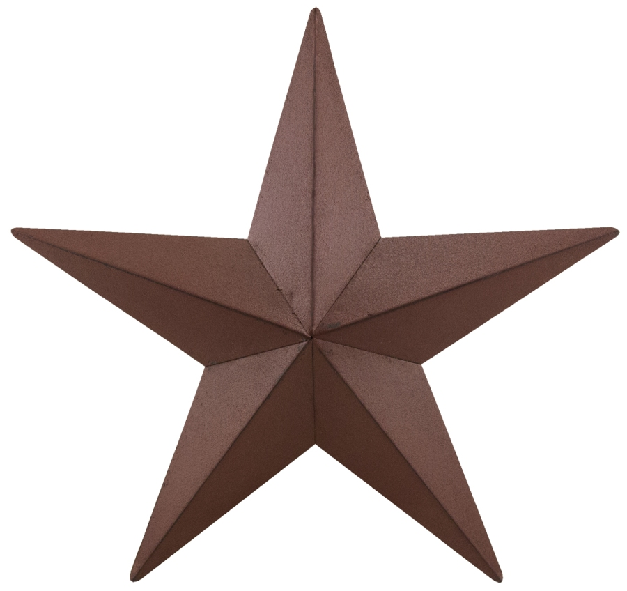 Decorative Metal Barn Star - Burgundy - 24in