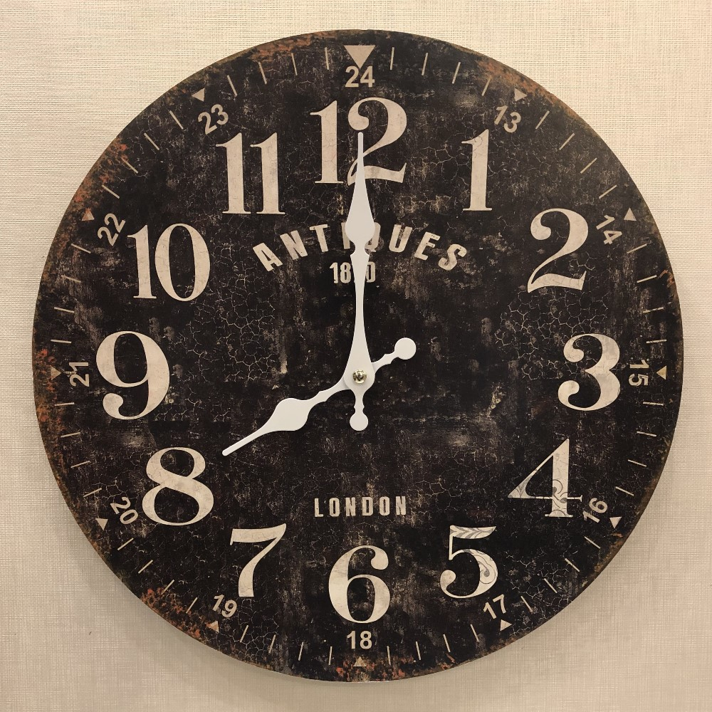 Decorative Wall Clock - Antiques - 13.25in