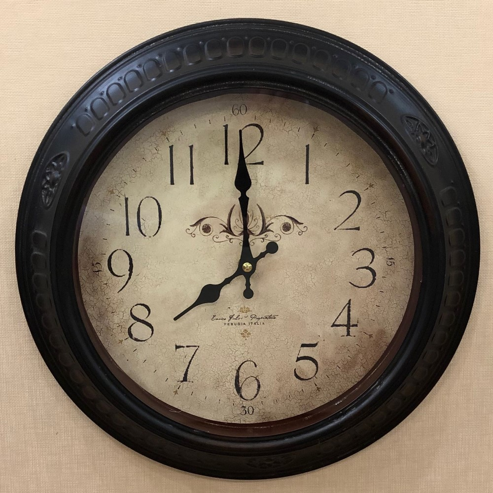 Decorative Wall Clock - Metal - Antique - 13.5in
