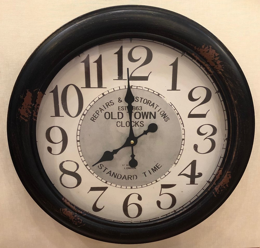 Decorative Wall Clock - Metal - Old Town - 18.25in