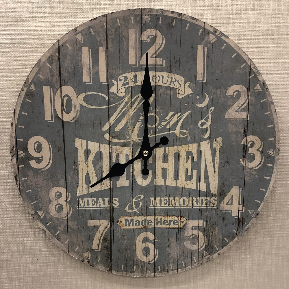 Decorative Wall Clock - Moms Kitchen - 13.25in