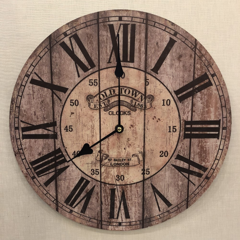 Decorative Wall Clock - Old Town - 13.25in