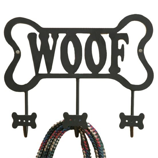 Wall Rack - Dog Bone Leash Hook - 9in