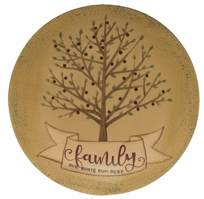 Decorative Wooden Plate - Deep Roots - 12in