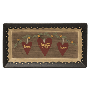 Decorative Wooden Tray - Home Sweet Home - 10.5in