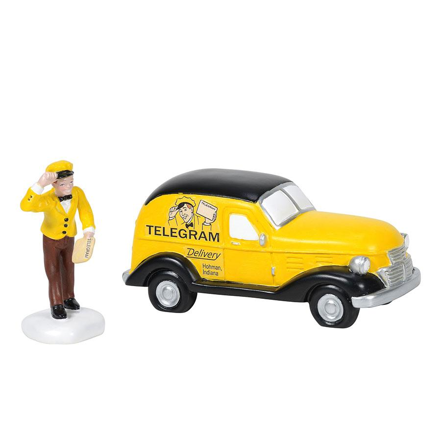 Department 56 A Christmas Story - Old Mans Telegraph Delivery 2020