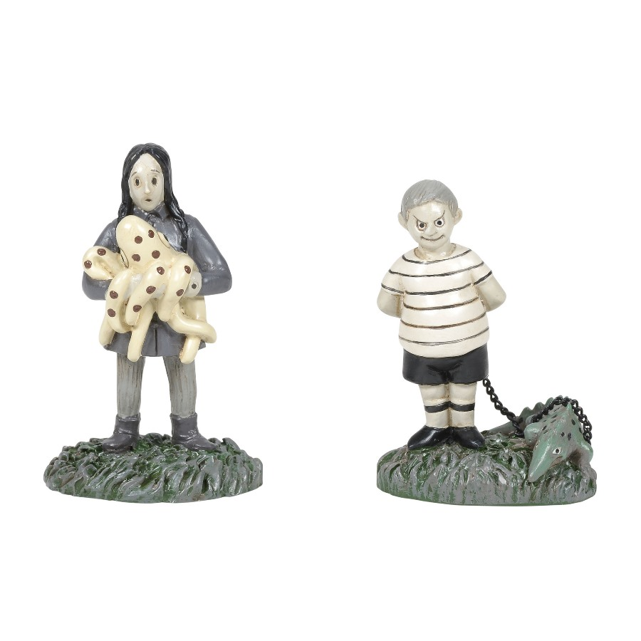 Department 56 Addams Family - Kids With Their Pets 2020