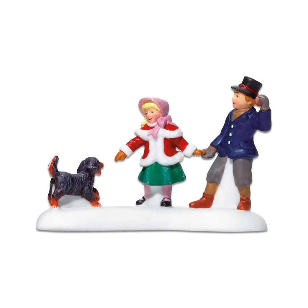 Department 56 Village Accessory - Playing With A Puppy