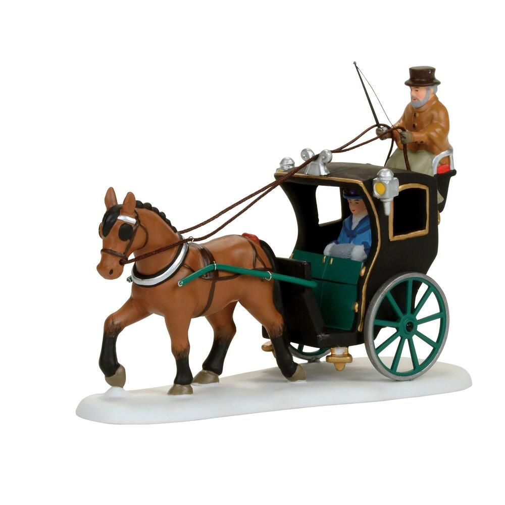 Department 56 Dickens Village - Holiday Cab Ride 2017