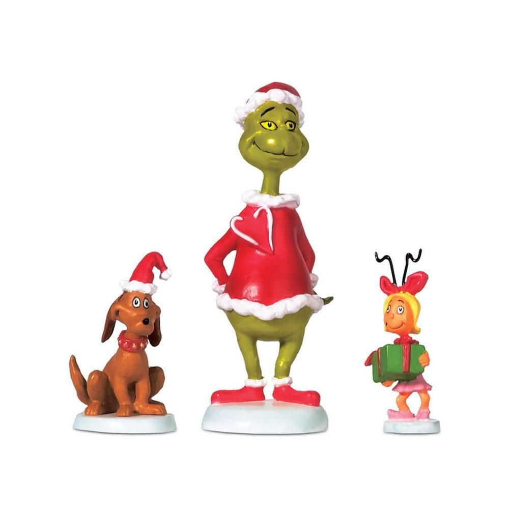 Department 56 Grinch Who-Ville - Grinch Max & Cindy-Lou Who 2008