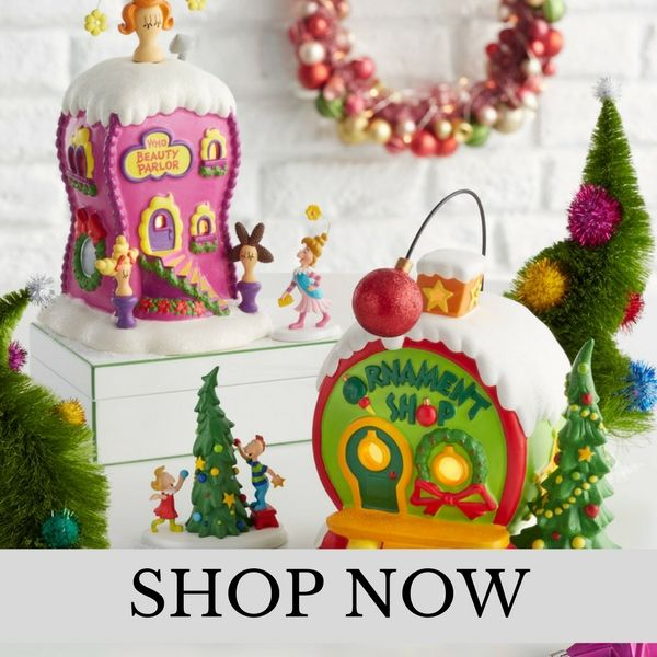 Department 56 - Grinch Whoville Village - Christmas Village Set