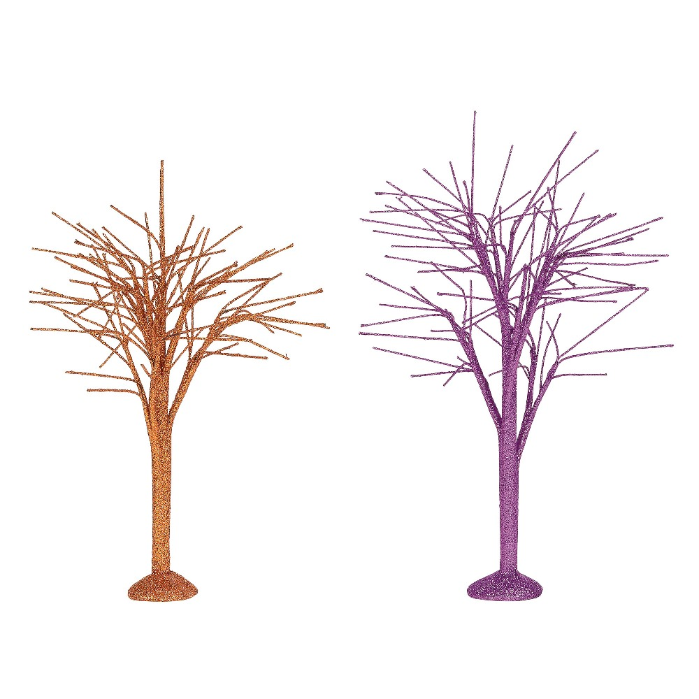 Department 56 Halloween Accessory - October Sparkle Branch Trees