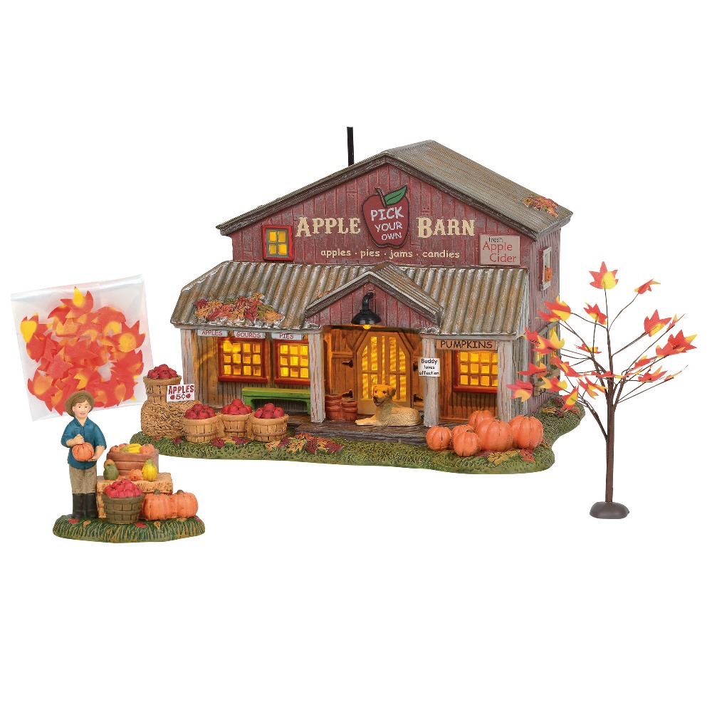 Department 56 Halloween Village - Apple Barn 2019 - Set of 2